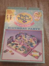 Vintage Polly Pocket Bluebird Travel Game Birthday Party with Box Complete