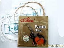 AM05  MANDOLIN STRING SET-8 LOOP END STRINGS-ALLOY WOUND D  G STEEL A  E