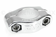 """Dia-Compe MX 2 PIECE old school BMX bicycle seat post clamp - 25.4mm (1"""") SILVER"""
