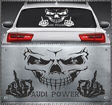 Skull Audi Power Aufkleber Sticker Totenkopf Heckscheiben 59x35cm 44AS A3 A4 A6