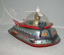RARE VINTAGE TPS 1960s SPACE TIN TOY TANK XT-978 MOON PATROL BATTERY OPERATED