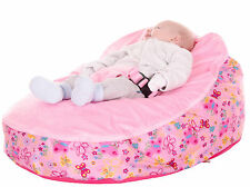 Baby Bean Bag In Pink Butterfly Design - Including filling & New Design