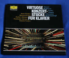 VIRTUOSE KONZERTSTUCKE FUR KLAVIER GERMAN 2LP BOX SET DG, FISCHER, ASKENASE..
