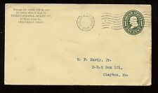 US Stamp Dealer Advertising Cover (Intl Stamp Co) 1911 Columbus, Ohio to Clayton