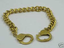 M94:New Stainless Steel Handcuff Bracelet-Gold Tone