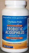 Puritan's Pride Probiotic Acidophilus w/Pectin 3 Billion Live Cells 250 Caps