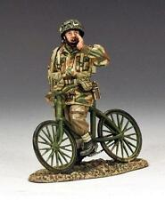 King&country WW11 Arnhem la AIRBORNE CICLISTA mg035 (P) 1.30 SCALA IN METALLO MILITARE