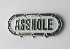 A$$HOLE FUNNY ADULT HUMOR NOVELTY LAPEL PIN BADGE 1 INCH
