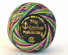 ANCHOR VARIEGATED PEARL COTTON EMBROIDERY THREAD BALL - VARIOUS ASSORTED COLORS