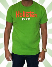 Hollister Men's Green 1922 Graphic Tee T-shirt Size M Good Condition Authentic