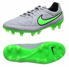 New Nike Tiempo Legend V FG Soccer Football Cleats Boots Size 6.5 Grey Green