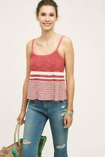 NEW Size L Large ANTHROPOLOGIE Nuru Midi Tank Moth Red Stripe Top Womens NWT