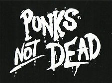 Punks Not Dead Patch / Aufnäher NEU 1,20€ Punk Punkrock Oi Oi! HC Hardcore Skin
