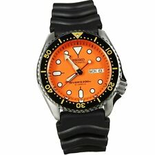 Seiko SKX011J1 Japan Diver Automatic Sport Orange Dial Rubber Watch SKX011