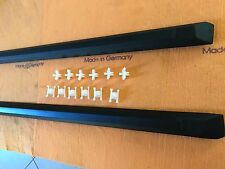 BMW E30 Oem Set Left & Right Rear Black Door Moulding W/Clips New Sedan Touring