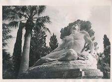 ÎLE DE CORFOU c. 1935 - Achilléion Les Jardins Statue d'Achille Grèce - Div 8227