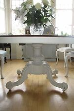Beautiful French Painted Antique Dining Table & 4 Queen Anne chairs shabby chic