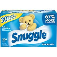 Snuggle Blue Sparkle Fabric Softener Dryer Sheets With Fresh Release 200ct BN