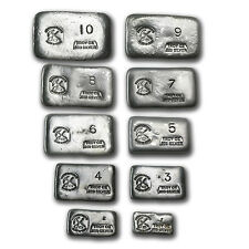 (55 oz) 1 oz-10 oz Silver Bar - Prospector's Gold & Gems - SKU #79993