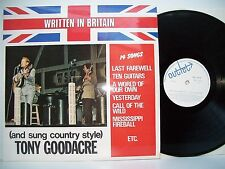"12"" VINYL LP. Written in Britain (and sung country) style by Tony Goodacre SIGNE"