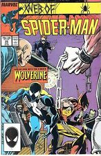 Web of Spider-man #29 Wolverine Logan Patch Death Ned Leeds Funeral Hobgoblin!!!