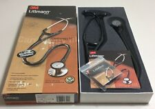 "3M Littmann Cardiology III Stethoscope, Black Plated , Black Tube, 27"", 3131BE"