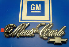 NOS CHEVY MONTE CARLO TRUNK EMBLEM NICE! HARD TO FIND! ORNAMENT