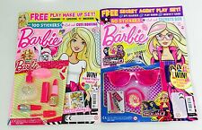 Barbie Magazine X2 Gift Issues - FREE AMAZING BARBIE TOYS! + STICKERS! (NEW)