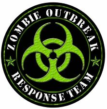 2 x Zombie Response Team Sticker Decal Motorbike Helmet Boards iPad laptop 10cm