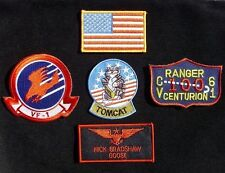 TOP GUN NICK BRADSHAW GOOSE US NAVY NAME TAG VELCRO® BRAND FASTENER 5 PATCH SET