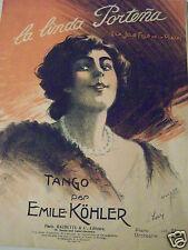 @ PARTITION LA LINDAPORTENA TANGO PAR EMILE KÖHLER ILLUSTREE PAR C  LERICE FRERE