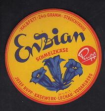 Ancienne  étiquette Fromage  Autriche ?  BN10302 Fleur Gentiane