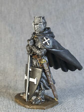 Hand Painted TOY SOLDIERS 54mm Medieval Knight of the Teutonic Order 1/32 Or-01