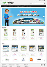 Niche Blogs Store Website For Sale - 40 Blogs Preloaded