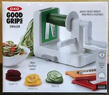 OXO Good Grips Fruit Vegetable Siralizer with 3 Blades NEW