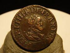 HA(1336) - HENRI IV - DOUBLE TOURNOIS - 1610 D - QUALITE DE BUSTE ++ !