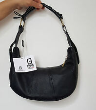borsa da donna in vera pelle made in italy nuova    bag leather nero stock