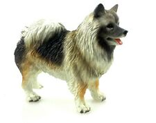 Keeshond Hand Painted Collectible Dog Figurine Statue