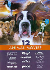 12 Animal Movies: Lassie / George / Red Fury / Big Cat / Dog's Tale AND MORE!