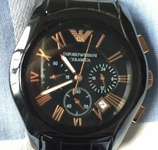 Emporio Armani AR1410 Mens Rose Gold CERAMICA Watch UK Seller