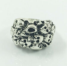 Fashion Men's Woman 316L Stainless Steel Vogue Design Mini Skull Ring Size 11