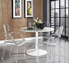 Acrylic Ghost Armchairs Set of 2 Clear Lucite Chairs Indoor Outdoor Furniture