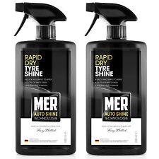 2 x Mer Tyre Shine Rapid Dry Tire Dressing Rubber Cleaner Polish Restorer Spray