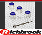 Richbrook Ford Silver RS Car Anti Theft Wheel Tyre Valve Dust Caps