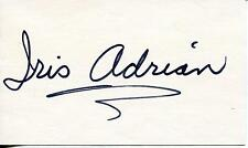"IRIS ADRIAN ""THE ODD COUPLE"" ""THE LUCY SHOW"" SIGNED CARD AUTOGRAPH"