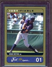 2002 JOSE REYES JUST Minors GOLD Edition ROOKIE New York METS RC