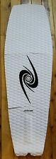 Full deck grip, surf grip, traction pad, tail pad, Advection. White and black