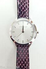 *KAREN MILLEN* STAINLESS STEEL LADIES' PINK LEATHER WATCH KM127V