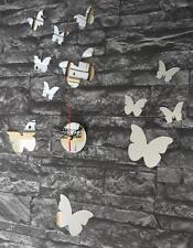 Wanduhr Spiegel Uhr Wandtattoo Design Wandspiegel Designer 12 Schmetterling Sp20