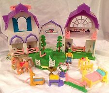Sweet Streets Loving Family Fisher Price RIDING COUNTRY STABLE Doll COMPLETE Lot